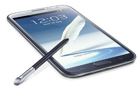 Samsung Galaxy Note 2 okostelefon kék színben