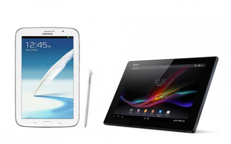 Samsung Galaxy Note 8.0 és Sony Xperia Tablet Z