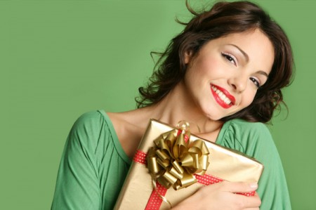 woman-with-christmas-gift